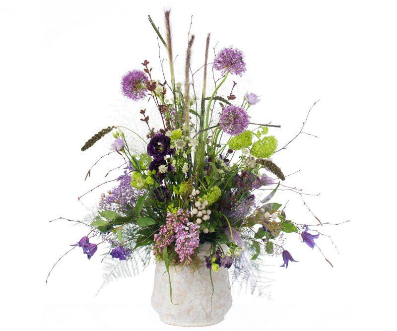 Bouquet Nº 08: Allium, Viburnum, Lilacs, Lisianthus, Clematis, Setaria, Astrantia, Brunia, Foliage