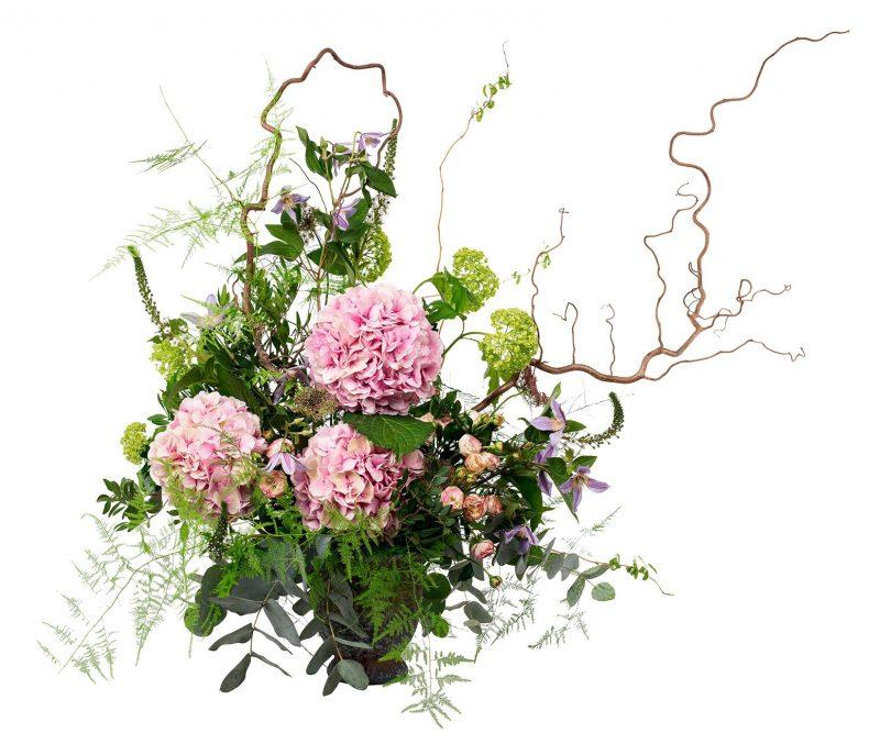 Bouquet Nº 15 Hydrangea, viburnum, Clematis, Branches, Foliage