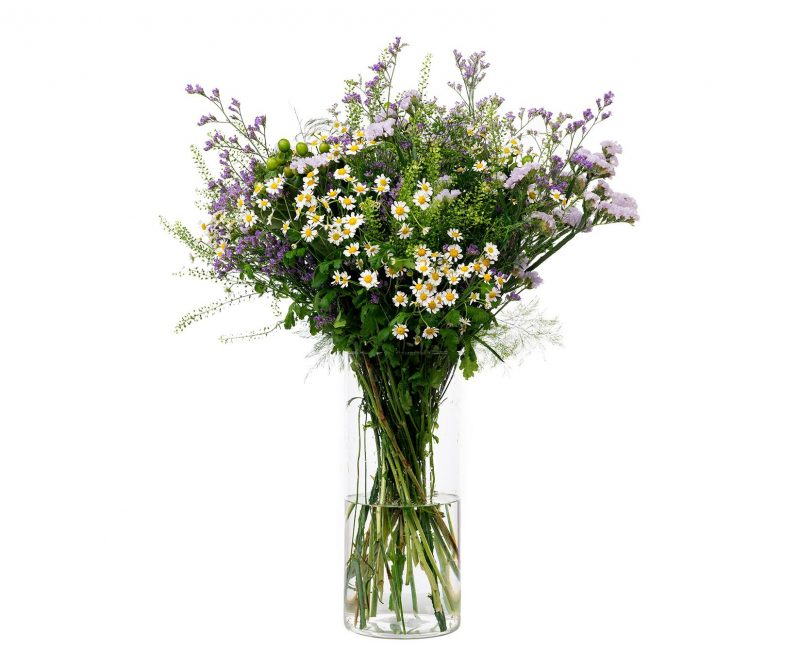 Bouquet Nº 26 T Tanacetum, thlaspi, hypericum, statice, limonium, Foliage - Florist in Madrid