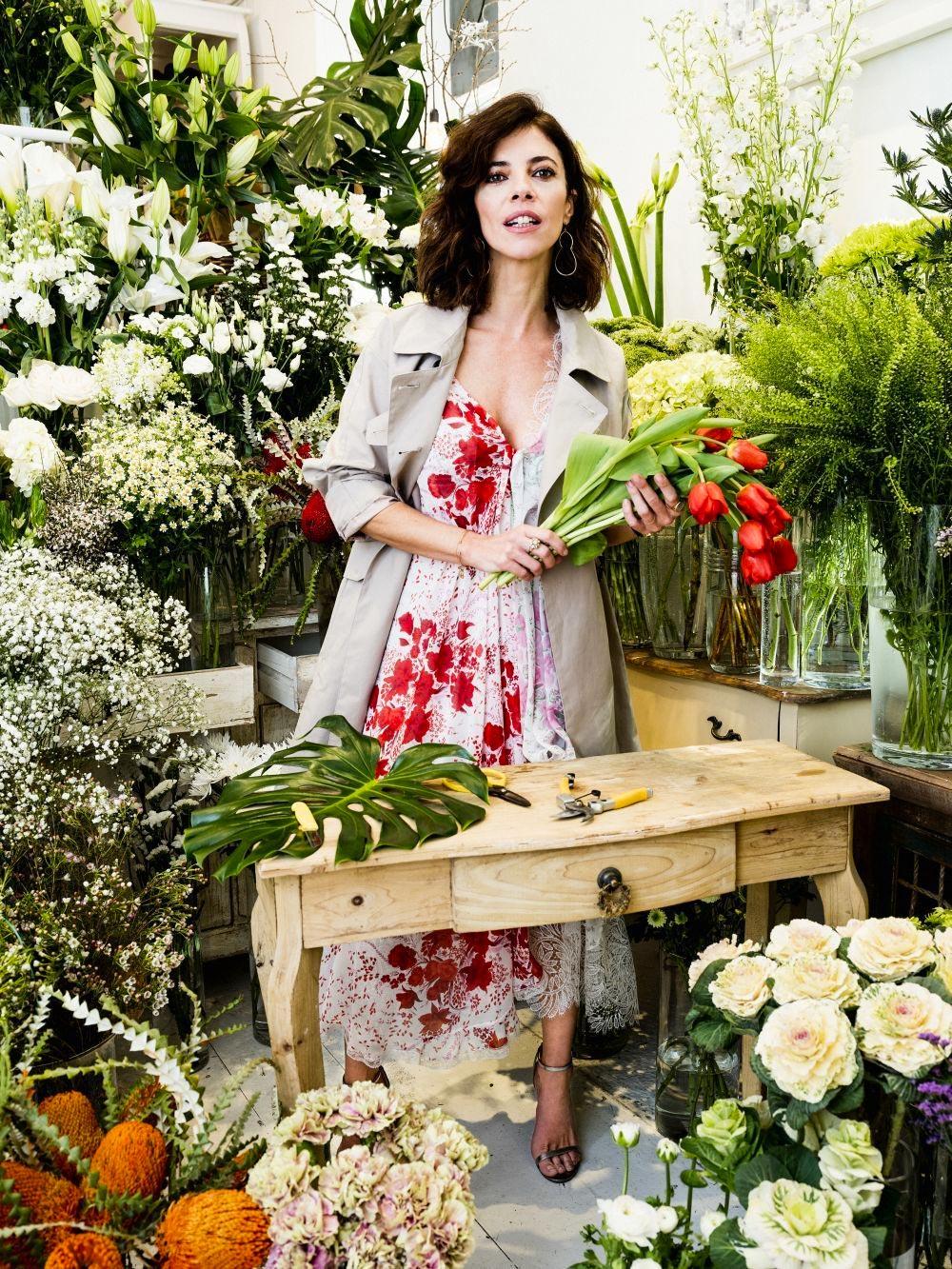 Maribel Verdú en la floristería Margarita se llama mi amor
