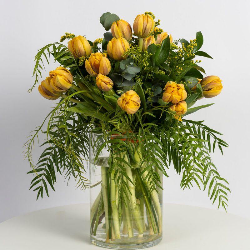 Tulipanes amarillos - Floristería Margarita se llama mi amor