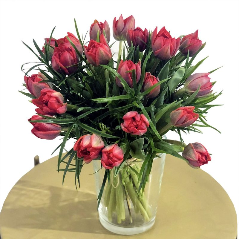 Venta online de flores - tulipanes rojos - Margarita se llama mi amor