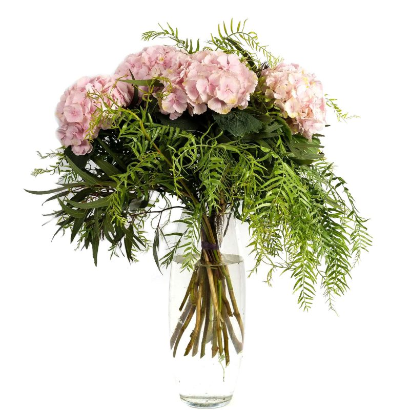 Ramo hortensias rosas- Margarita se llama mi Amor