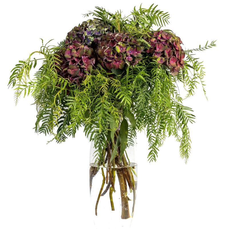 Hortensias verde/morado